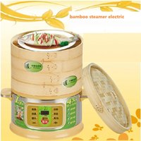 bamboo steamer - Double Boilers cooking steamer pot bamboo multi function layers litre