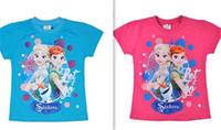 frozen tshirt - 18PCS new Frozen Anna Elsa princess Tshirts Short Sleeve Boy and Girls Baby Tshirt Clothing Outfits Sets designs D164