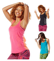 Wholesale woman yoga tops vest dance tops Tankful For Two Tone