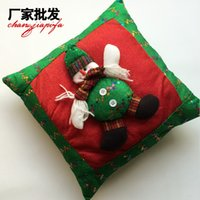 Wholesale Santa Snowman Pillow Christmas Gift Ideas Christmas gift items cartoon cloth cushions