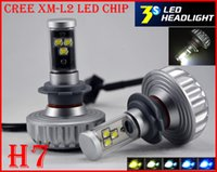 auto drive system - 1 Set H7 W LM CREE Auto LED Headlight System XML2 CHIP S UPGRADED Changeable Color Fanless ALL IN ONE Motor Driving Replace HID Xenon