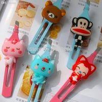 bear clamp - Hot sale Cute cartoon cat clip easily bear iron eyebrow clip eyebrow clamp pliers