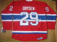 air stop - 2015 Montreal Ken Dryden red jerseys by CHINA POST AIR MAIL please read size chart before select your size