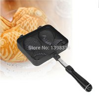 Wholesale New arriver Taiyaki Japanese DIY cute bakeware double fish shaped non stick waffle maker pan