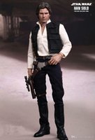 adult halloween shirts - Star Wars ANH A New Hope Han Solo Costume Star Wars Cosplay Suit Halloween Fancy Dress For Adult Men Vest Shirt Pants Full Set