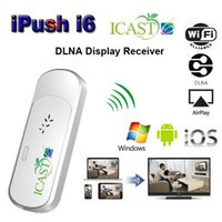 Cheap Stock ICast i6 iPush TV Dongle Miracast Ezcast HDMI TV Stick Android IOS Windows DLNA Wifi Airplay Mirror Miracast Multimedia Receiver Share