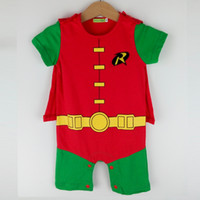 baby superhero costume - Infant Baby Toddler Boys Robin Romper Costume Superhero Halloween Short Sleeves Summer
