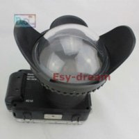 Wholesale Optical Glass Fish eye Fisheye Attachment Lens Dome Port Cover with Hood for Underwater Diving Waterproof Case Photography pp151