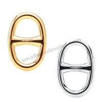 Wholesale Smallwholesales gold and silver plated Tri glide button high end France custom K gold plated titanium steel small scarf twilly buckles