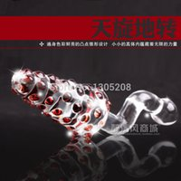 Cheap 151202 Crystal Glass Dildo Sex Toys Female G-spot Stimulation dizzy   Anal Butt Plug Novelty Toy Masturbation Device