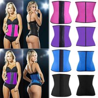 rubber corsets - Brand New Women s Waist Latex Rubber Waist Trainer Belt Cincher Underbust Corset Body Shaper Shapewear For Ladies