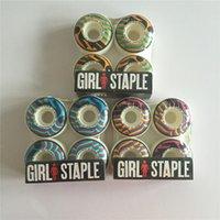 Wholesale New Style Skateboard Wheels Sale Girl Staple mm mm mm Skate Wheels PU Wheels White Skateboarding Rodas De Skate