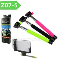 Wholesale Z07 Bluetooth Wireless Monopod Stainless Steel Remote Control Self Timer For Cellphone Camera Chargeable Monopod Fit Iphone Samsung