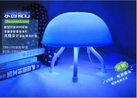 Wholesale New Hot New Pinch LED Night Light Jellyfish Shaped Night Light USB Power Dual purpose Lamp