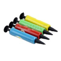 ball pump needle - C18 Mini Plastic Hand Soccer Needle Ball Party Balloon Inflator Air Pump NEW