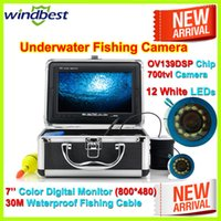 Cheap 7'' Color Digital Screen Surveillance Cameras Best CMOS 30M PU Skin Cable Cheap Surveillance Camera