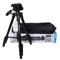 2015 Nueva marca portátil Statief Professional Mini trípode de viaje de aluminio para Nikon Canon DSLR cámara videocámara con brazo basculante