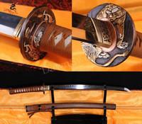 Wholesale 100 Hand Forge Handmade T10 ClayTempered SHINOGUI ZUKURI Blade Japanese Samurai Wakizashi Sword
