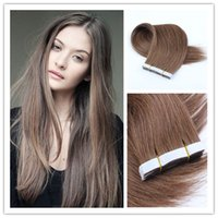 Wholesale 8A Grade Natural Hair Extension PU Skin Weft Hair Extensions Straight With g Unprocessed Virgin Remy Human Hair