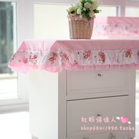 bedside table cloths - Customize cotton flower print rural pink bedside table cover cute table cloth japanese style table covers