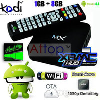 Wholesale MX MX2 Android Smart TV Box Android Dual Core Original G Box Midnight MX G RAM G ROM WiFi Sports Kodi Helix Fully Loaded