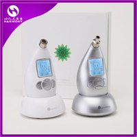 Wholesale 2015 New Multifunctional Diamond Microdermabrasion Facial Beauty Machine V Skin Massage Remove Stretch Marks White Sliver Color