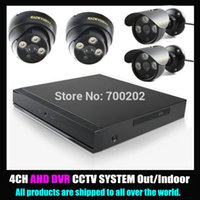 avr kit - 4 Channel Home Security Surveillance System HD P AHD Camera Outdoor Indoor with CH AVR CCTV DVR Kit