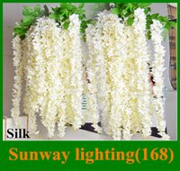 Wholesale Wedding party favors Artificial flowers M Silk Flowers Long Elegant Wisteria Vine Rattan For Wedding home Christmas decorations