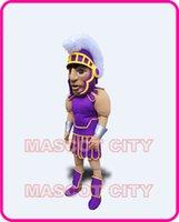 Custom Made athletic kit - Custom Purple Centurion Knight Mascot spartan Costume Warrior Theme Cartoon Anime cosply Costumes Mascotte Fancy Dress Kits