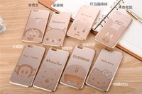 mouse animal - thin Cute Mickey Mouse Rilakkuma Doraemon Winnie the Pooh Cartoon Animal Case Cover for iPhone Plus Inch Electroplate PC Skin