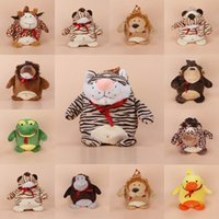 Wholesale Baby Silk Cotton Cartoon Animal Backpack Kids Book Bag Shoulder Bag For Christmas Birthday Presents GOO