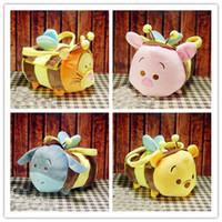 bee plush toy - TSUM TSUM Winni Piglet Tigger Eeyore Honey Pot Bee Set Plush Bag Toy