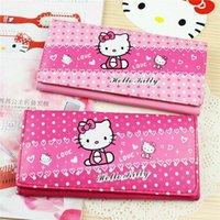 Wholesale Girls Wallet Holders Bag Brand New Girls Wallet Hello Kitty Kids Purse Women PU Leather Bag Fashion Children Wallets Long