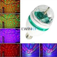 Wholesale E27 W Colorful Rotating Party Light RGB LED Spot Light Bulb Lamp Torch Lighting for Chrismas