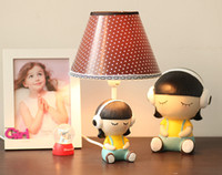 Wholesale Exclusive original female doll small table lamps garden style bedroom bedside lamp table lamp desk lamp dimmable wild