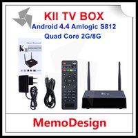 Wholesale KII Amlogic S812 Quad Core Android TV Box XBMC KODI H HEVC Android G G Wifi T2R Giga RJ45 GRAM G Rom K2K UHD