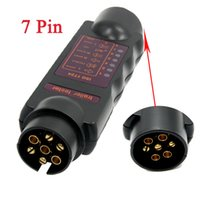 Wholesale Universal Pin Circuit Plug Socket Tester Vehicle Car Towing Trailer Light Cable With LED indicators