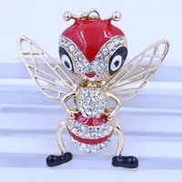 bee keychain - Novo do creative Factory Direct Metal Keychain Key Ring customized bee car key to get free samples