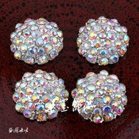 Wholesale Handmade Alloy AB Rhinestone Flatback Wedding Button Starburst Metal Crystal Button For Bridal Brooches mm Colors ZK396