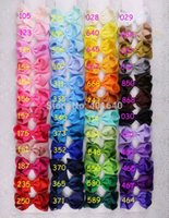 fiber hair - 100pcs baby girl inch solid hair bows clips Boutique grosgrain ribbon holiday bows hairbows kids girl