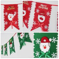 banner hanging kit - Christmas Flag Hanging Party Santa Claus Snowman PatternFlags Banners Kits Christmas Decorations for Home