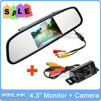 Wholesale 2013 New IR LED Night Vision Car Rear View Camera With inch Color LCD Car Mirror Monitor