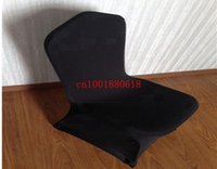 Wholesale Fedex Black Spandex Chair Covers Flat Front For Wedding Party Hotel Decoration
