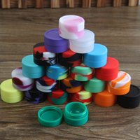 ball jar storage - Nonstick food grade silicone jars dab wax vaporizer oil container silicon wax ball holder reusable silicone tin for storage jar DHL