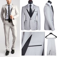 Wholesale 2015 New Arrival Men s Branded Formal Office Suits Fashion White Tuxedo Suits