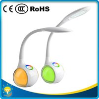 application room - HOT SALE portable funky LED table lamp reading lamp eye protection touch colorful bodybase indoor application