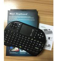 Rii Air Mouse inalámbrico de mano Mini teclado I8 2.4GHz Touchpad teledirigido para MX CS918 MXIII M8 TV BOX Game Play Tablet libre de DHL