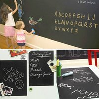 Wholesale Removable Wall Sticker Large Blackboard Kids Art Decal Home Sticker Chalkboard Wall Sticker For Kids Rooms JC0157 kevinstyle