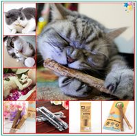 Wholesale 2016 Catnip Silvervine StickS Cat Dental Health Sticks Pet Catnip Products with Bags total pieces bring you much smile