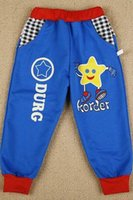 Wholesale The new style of small children years old cartoon man pointed star pattern beam foot child children trousers C
